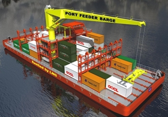 Port Feeder Barge
